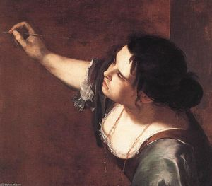 Artemisia Gentileschi - Self-Portrait as the Allegory of Painting (detail)