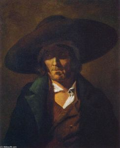Portrait of a Man, Oil On Canvas by Jean-Louis André Théodore Géricault  (order Fine Art Framed Giclee Jean-Louis André Théodore Géricault)
