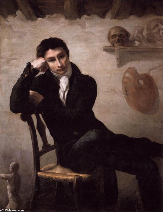 Portrait of an Artist in His Studio, Oil On Canvas by Jean-Louis André Théodore Géricault (1791-1824, France)