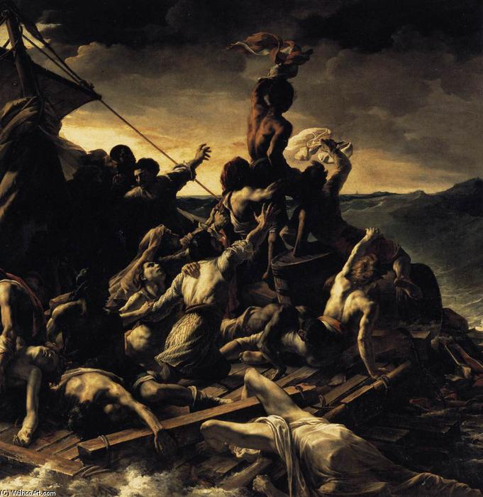 The Raft of the Medusa (detail), Oil On Canvas by Jean-Louis André Théodore Géricault (1791-1824, France)