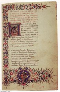 Gherardo Del Fora - Manuscript with Poems by Lucrezia Tornabuoni