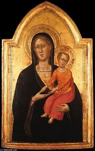 Madonna and Child, Tempera by Don Silvestro Dei Gherarducci  (order Fine Art Poster on canvas Don Silvestro Dei Gherarducci)