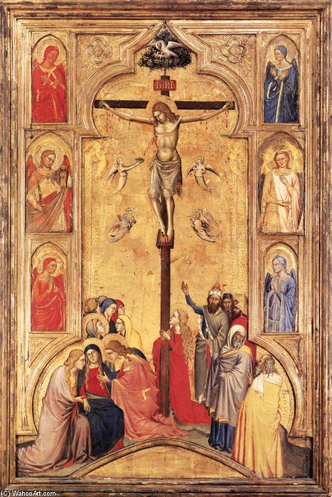 The Crucifixion, Tempera by Don Silvestro Dei Gherarducci (1339-1399, Italy)