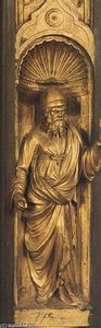 Lorenzo Ghiberti - Biblical Person (detail from the east door)