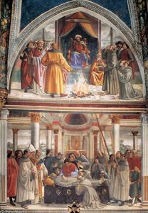 Domenico Ghirlandaio - Right wall of the Sassetti Chapel (detail)