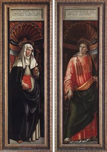 Domenico Ghirlandaio - St Catherine of Siena and St Lawrence