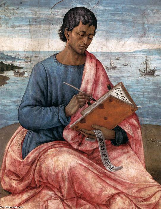 St John the Evangelist on the Island of Patmos (detail), Tempera by Domenico Ghirlandaio (1449-1494, Italy)
