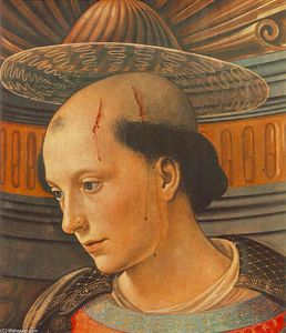 Order Oil Painting : St Stephen (detail), 1490 by Domenico Ghirlandaio (1449-1494, Italy) | WahooArt.com