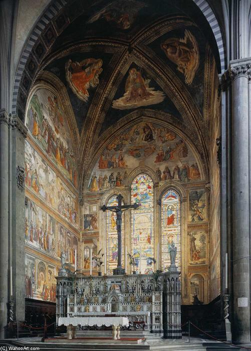 View of the Tornabuoni Chapel, Frescoes by Domenico Ghirlandaio (1449-1494, Italy)