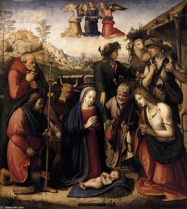 Michele Di Ridolfo Del Ghirlandaio (Michele Tosini) - Adoration of the Shepherds