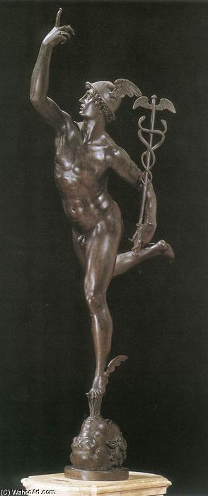 Order Oil Painting : Mercury (front view), 1580 by Giambologna (1529-1608, France) | WahooArt.com