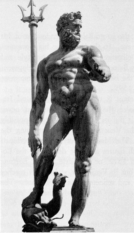 Order Art Reproduction : Neptune from the Fountain of Neptune, 1563 by Giambologna (1529-1608, France) | WahooArt.com