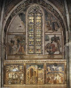Giotto Di Bondone - Frescoes in the second bay of the nave