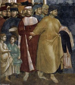Giotto Di Bondone - Legend of St Francis: 5. Renunciation of Wordly Goods (detail)