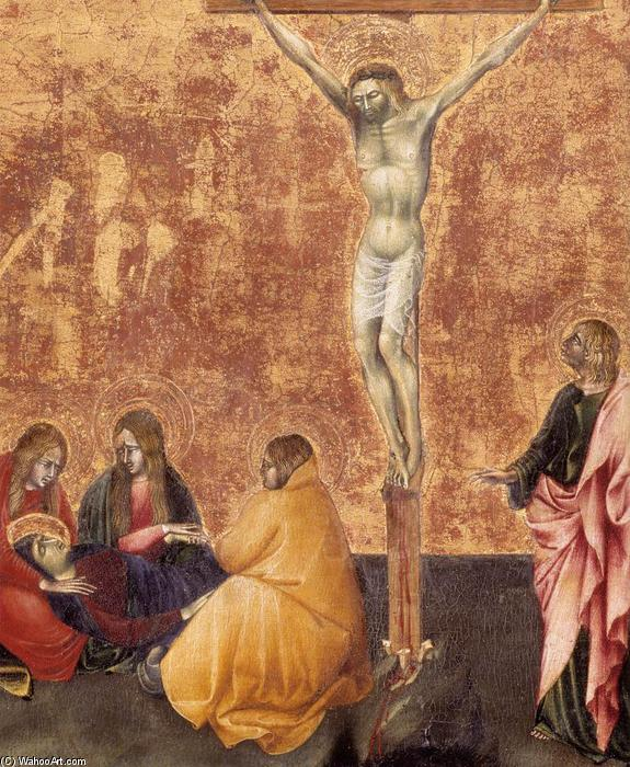 Crucifixion (detail), Tempera by Giovanni Di Paolo (1403-1482, Italy)