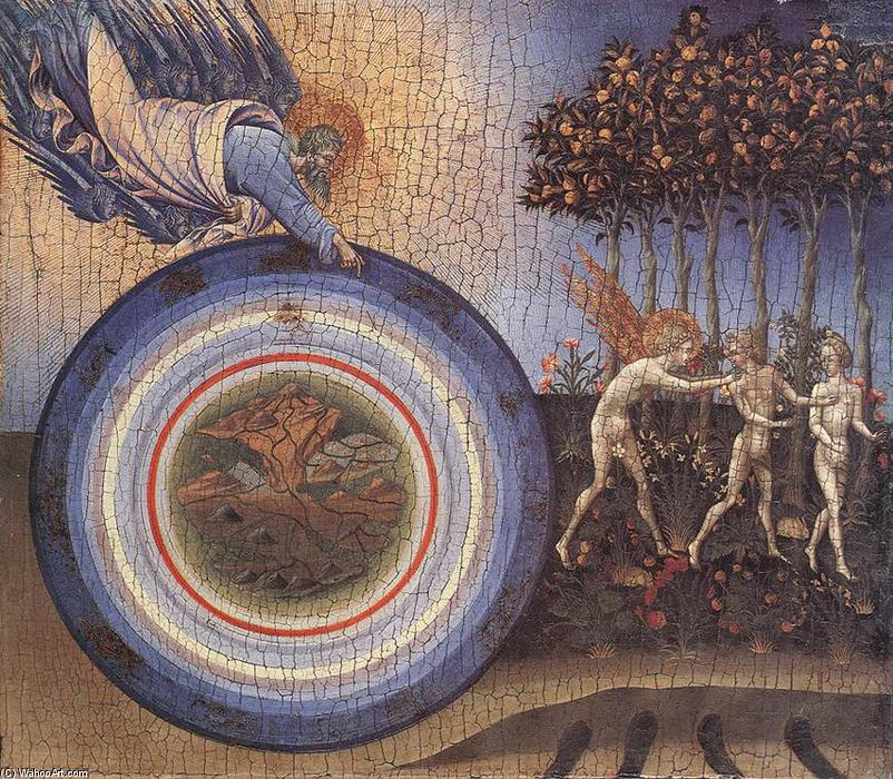 The Creation and the Expulsion from the Paradise, 1445 by Giovanni Di Paolo (1403-1482, Italy) | WahooArt.com