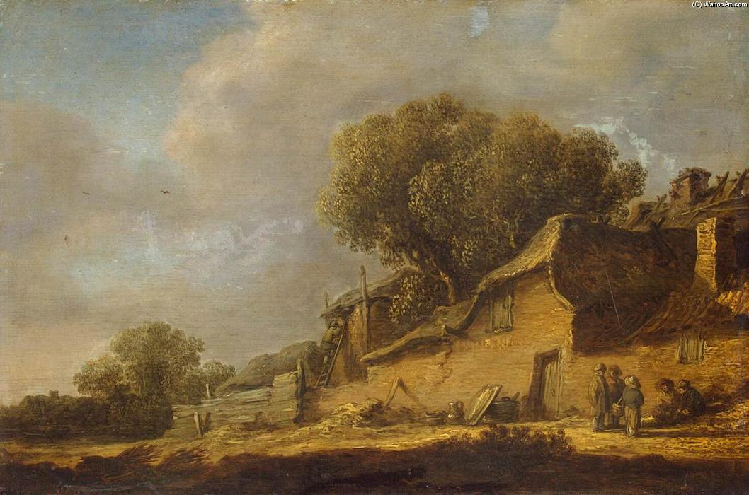 Landscape with a Peasant Cottage, 1631 by Jan Van Goyen (1596-1656, Netherlands) | Museum Quality Reproductions | WahooArt.com