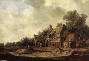 Jan Van Goyen - Peasant Huts with a Sweep Well