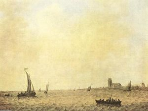 Jan Van Goyen - View of Dordrecht from the Oude Maas