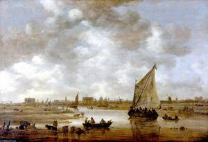Jan Van Goyen - View of Leiden from the Northeast