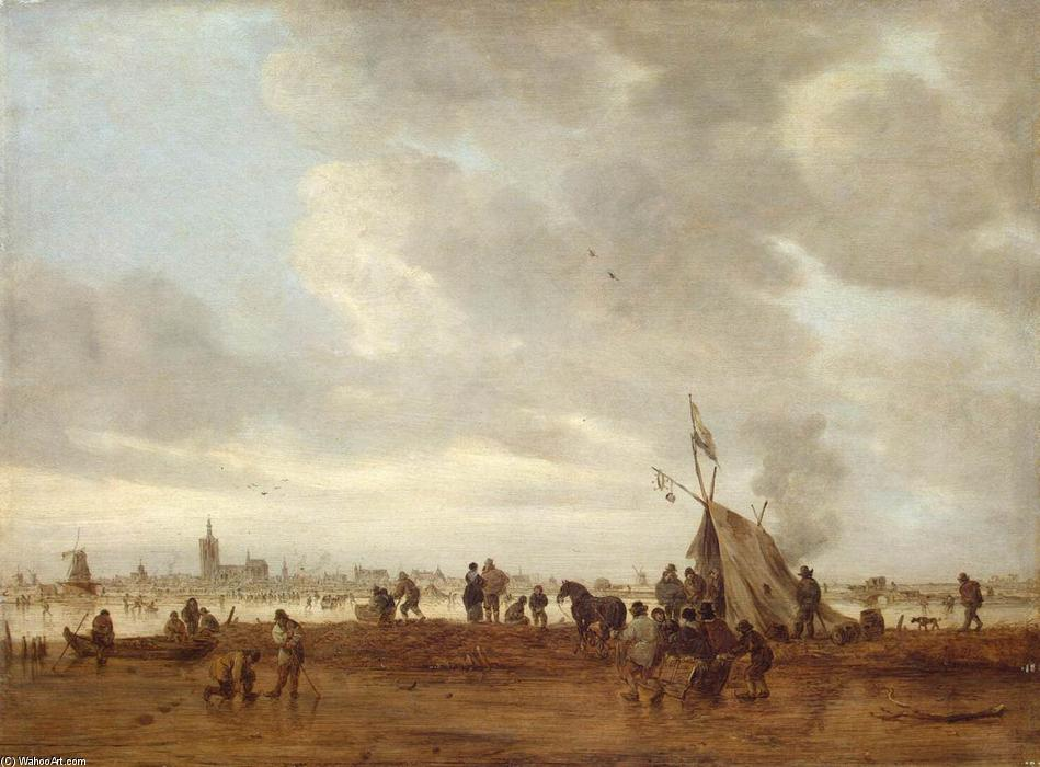 Winter, 1645 by Jan Van Goyen (1596-1656, Netherlands) | Painting Copy | WahooArt.com