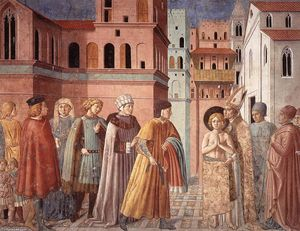 Benozzo Gozzoli - Scenes from the Life of St Francis (Scene 3, south wall)