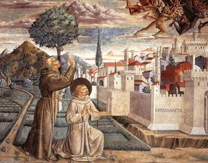 Benozzo Gozzoli - Scenes from the Life of St Francis (Scene 6, north wall)