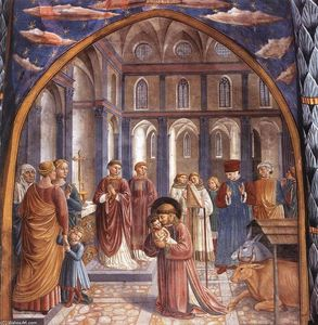 Benozzo Gozzoli - Scenes from the Life of St Francis (Scene 9, north wall)
