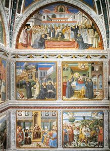 Benozzo Gozzoli - View of the right-hand wall of the chapel