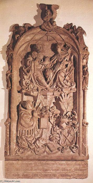 Monument of Doctor Ulrich Aresinger, 1482 by Erasmus Grasser (1450-1515, Germany) | Painting Copy | WahooArt.com