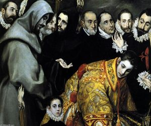 El Greco (Doménikos Theotokopoulos) - The Burial of the Count of Orgaz (detail) (12)