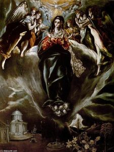 El Greco (Doménikos Theotokopoulos) - The Virgin of the Immaculate Conception
