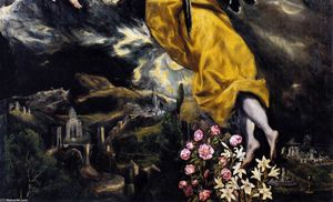 El Greco (Doménikos Theotokopoulos) - The Virgin of the Immaculate Conception (detail)