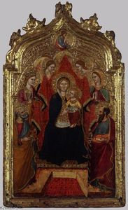 Gregorio Di Cecco - Madonna Enthroned with Angels and Saints