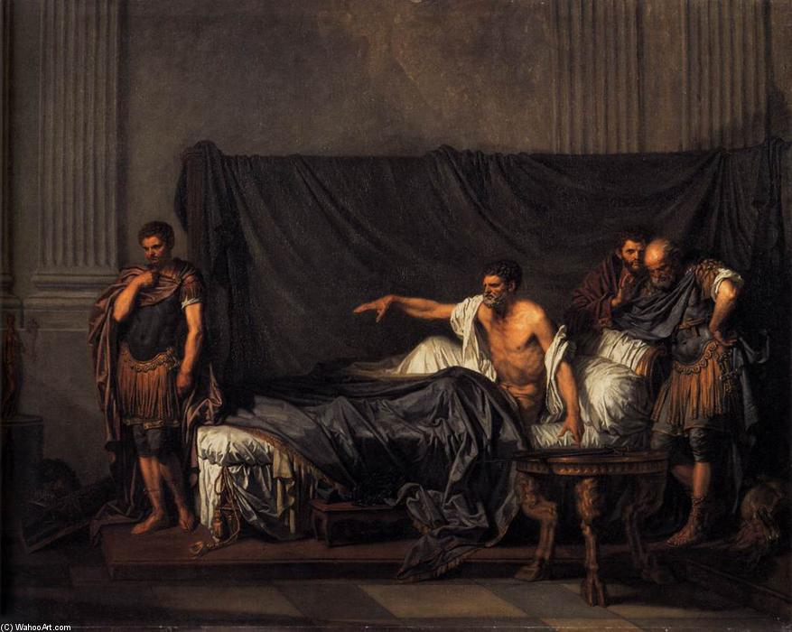 Septimius Severus and Caracalla, 1769 by Jean-Baptiste Greuze (1725-1805, France) | Art Reproduction | WahooArt.com