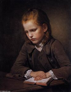Jean-Baptiste Greuze - Student with a Lesson-book