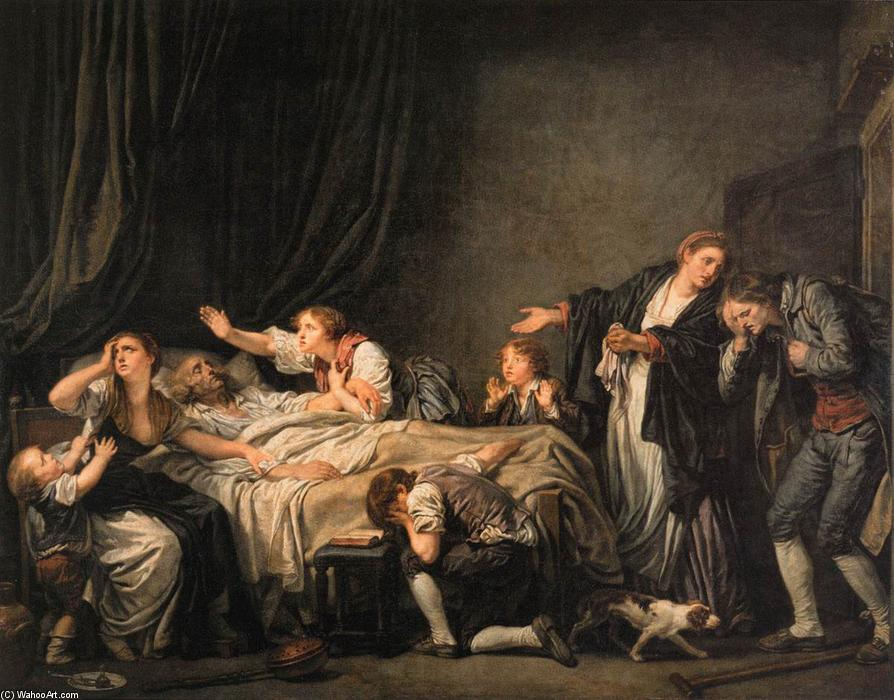 The Father`s Curse: The Son Punished, 1777 by Jean-Baptiste Greuze (1725-1805, France) | Art Reproductions Jean-Baptiste Greuze | WahooArt.com