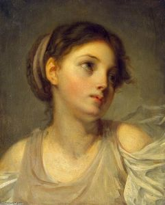 Jean-Baptiste Greuze - Young Girl in a Lilac Tunic