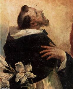 Gianantonio Guardi - Virgin and Child with Sts Dominic and Rosa of Lima (detail)