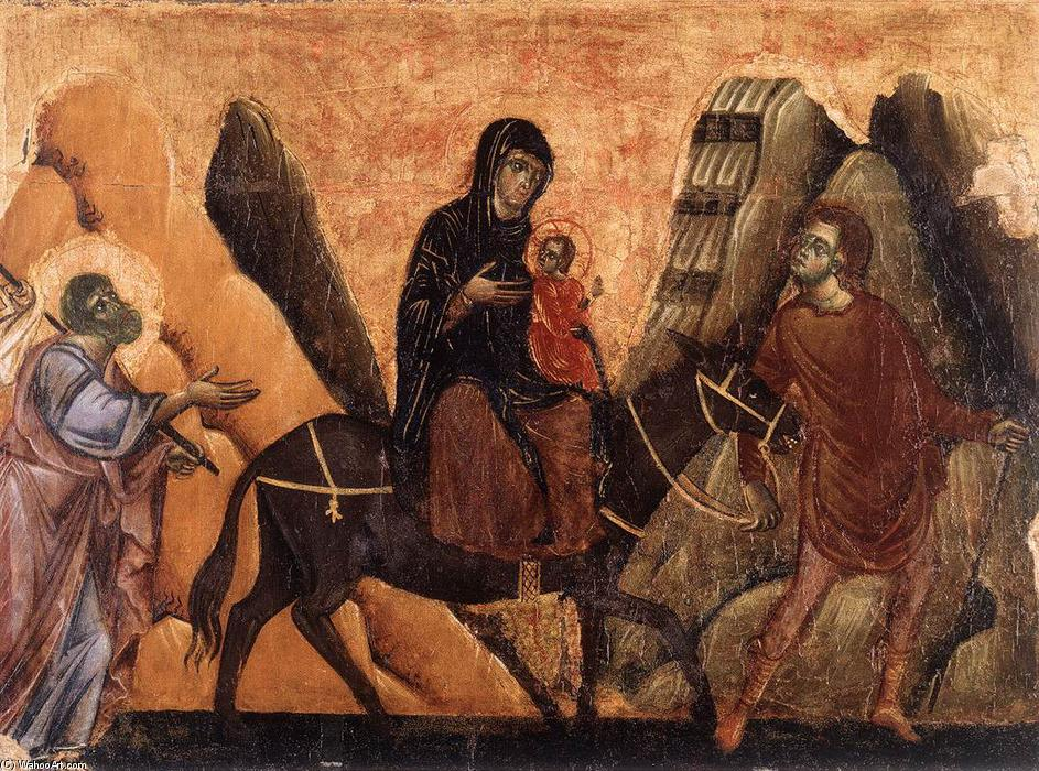 Order Reproductions | Flight into Egypt, 1270 by Guido Da Siena (1230-1290, Italy) | WahooArt.com