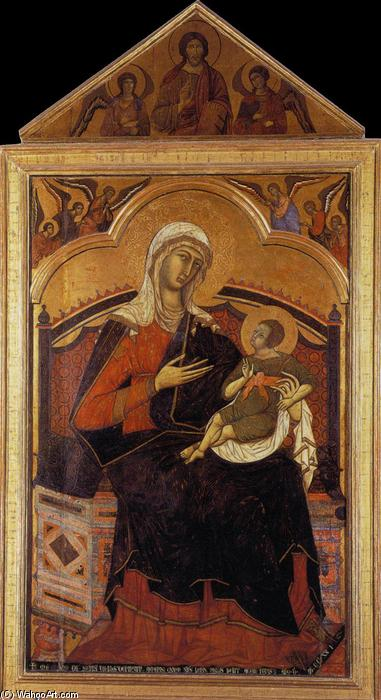 Virgin and Christ Child Enthroned, 1270 by Guido Da Siena (1230-1290, Italy) | Museum Art Reproductions Guido Da Siena | WahooArt.com