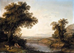 Jacob Philippe Hackert - Italianate Landscape