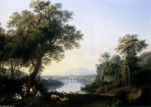 Jacob Philippe Hackert - Landscape with River