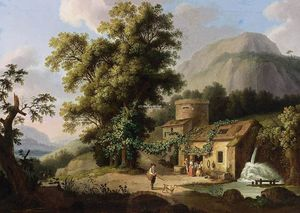 Jacob Philippe Hackert - View of the Copper-Mill in Vietri