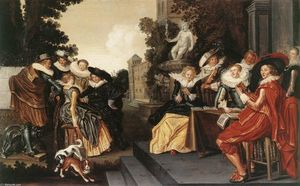 Dirck Hals - Music-Making Company on a Terrace