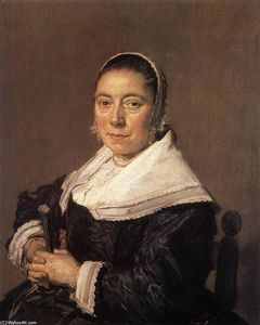 Frans Hals - Portrait of a Seated Woman (presumedly Maria Vernatti)