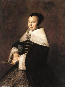 Frans Hals - Portrait of a Seated Woman Holding a Fan