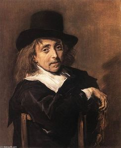 Frans Hals - Seated Man Holding a Branch