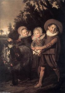 Frans Hals - Three Children with a Goat Cart