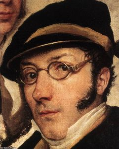Francesco Hayez - Self-Portrait in a Group of Friends (detail)